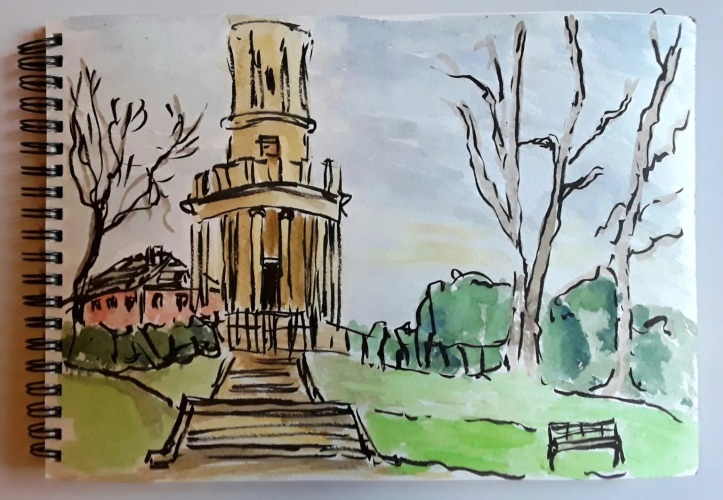 Margaret Hall Reblog - Sketching Outside in Winter With Watercolor https://margarethallfineart.com/sketching-outside-in-winter-with-watercolour/