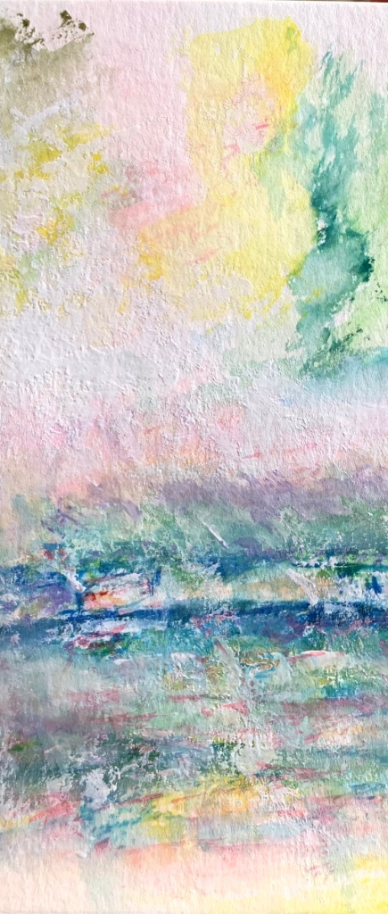 Detail Garden April Rain in Giverny ©Felipe Adan Lerma 6x9 watercolor 01.07.21