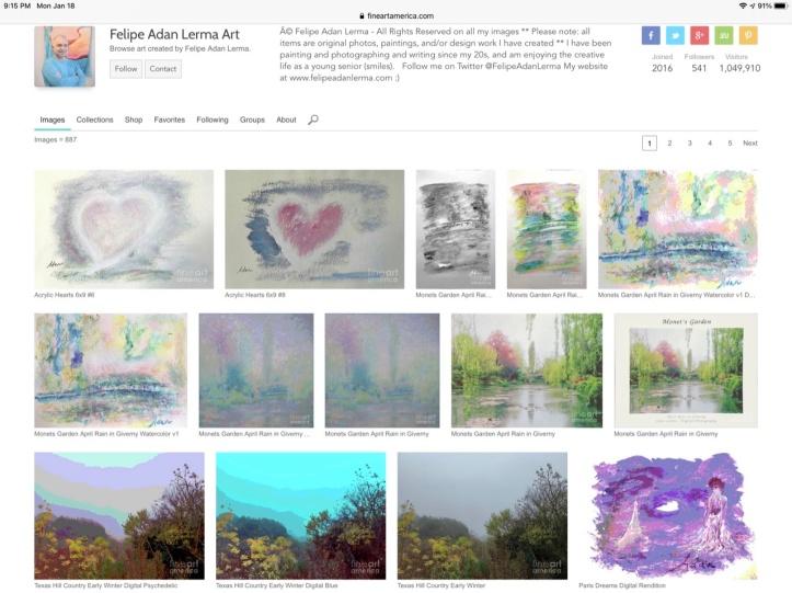 Adan's Paintings, Digital and Photo Images 01.18.21 ©Felipe Adan Lerma Images - https://fineartamerica.com/profiles/felipeadan-lerma?tab=artwork Collections - https://felipeadan-lerma.pixels.com/galleries.html