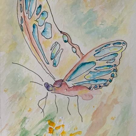 Floating Butterfly 1 ©Felipe Adan Lerma Pen and Ink with Watercolor https://felipeadan-lerma.pixels.com/featured/floating-butterfly-1-pen-and-ink-with-watercolor-felipe-adan-lerma.html