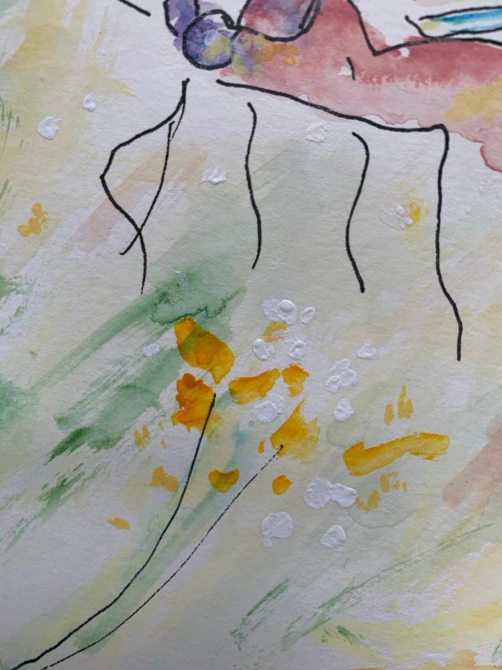 Detail, Floating Butterfly ©Felipe Adan Lerma Pen and Ink with Watercolor 01.29.21 https://felipeadan-lerma.pixels.com/featured/floating-butterfly-1-pen-and-ink-with-watercolor-felipe-adan-lerma.html