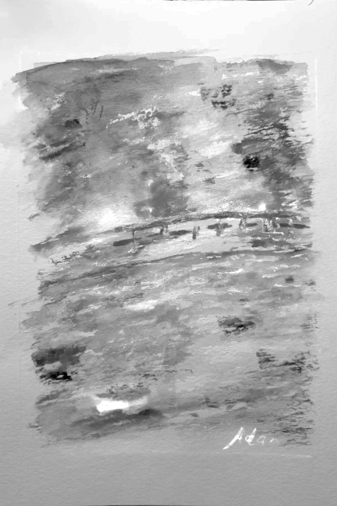 Monets Garden April Rain in Giverny Watercolor v2 Black and White Digital Art ©Felipe Adan Lerma https://felipeadan-lerma.pixels.com/featured/monets-garden-april-rain-in-giverny-watercolor-v2-black-and-white-digital-art-felipe-adan-lerma.html