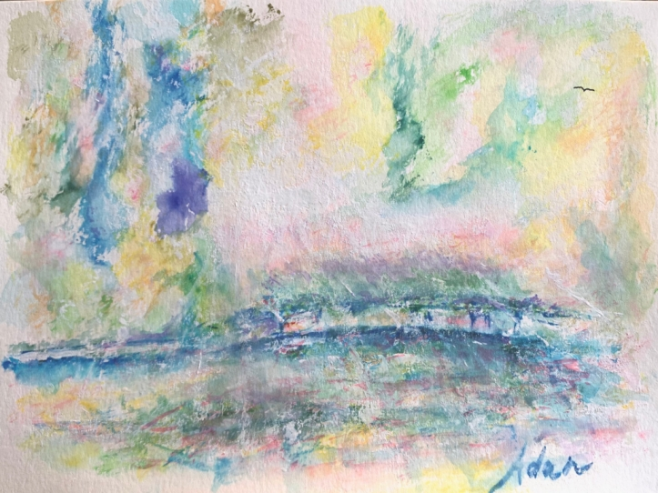 Monets Garden April Rain in Giverny Watercolor v1 ©Felipe Adan Lerma https://felipeadan-lerma.pixels.com/featured/monets-garden-april-rain-in-giverny-watercolor-v1-felipe-adan-lerma.html