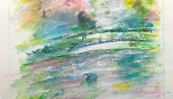 Monets Garden April Rain in Giverny Watercolor v2 ©Felipe Adan Lerma https://felipeadan-lerma.pixels.com/featured/monets-garden-april-rain-in-giverny-watercolor-v2-felipe-adan-lerma.html