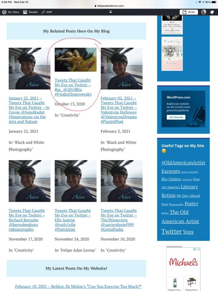 Related Posts feature on Adan's WordPress Site 02.12.21 https://felipeadanlerma.com/