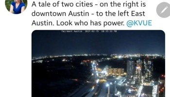 Tale of Two Cities (Austin) Winter Storm February 2021 via Terri Gruca @TerriG_KVUE https://www.facebook.com/1663286112/posts/10222624862684595/