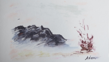 Charcoal Mountain ©Felipe Adan Lerma watercolor on Paper https://felipeadan-lerma.pixels.com/featured/charcoal-mountain-felipe-adan-lerma.html