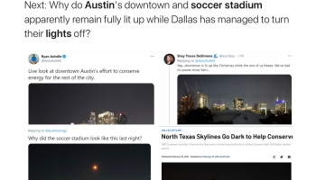 Contrast Dallas and Austin lights use during #TexasFreeze via Ari Schulman @AriSchulman https://twitter.com/arischulman/status/1361685147402317824?s=21