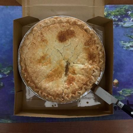 Apple Pie on Pi Day March 14, 2021 ©Felipe Adan Lerma
