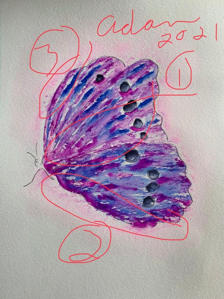 Sky on Fire Butterfly ©Felipe Adan Lerma in-progress update 03.16.21