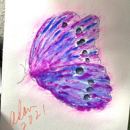 Sky on Fire Butterfly ©Felipe Adan Lerma in progress 03.15.21