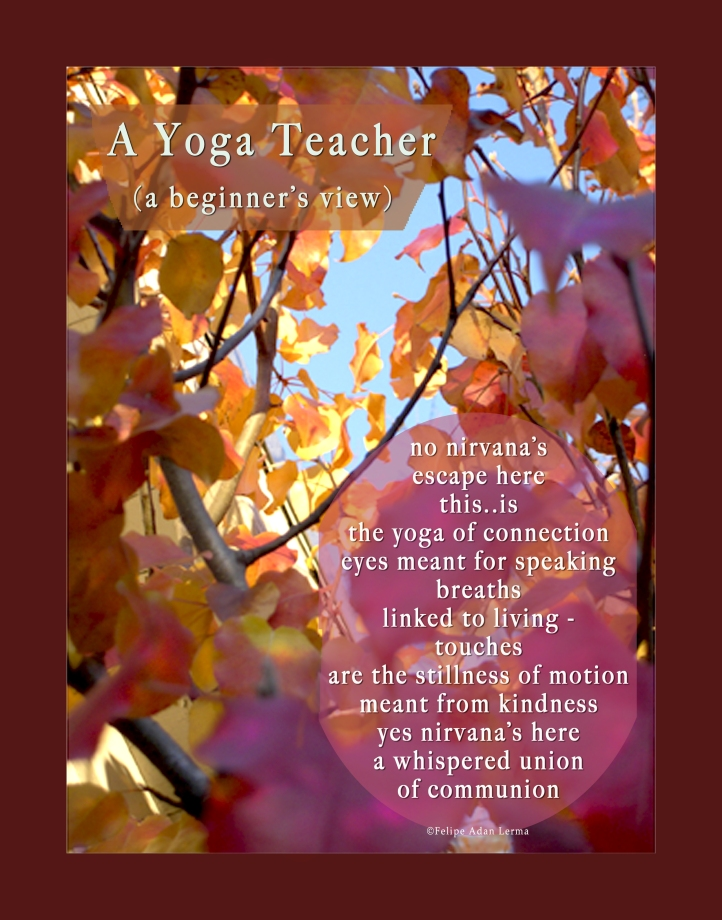 A Yoga Teacher (a beginner's view) ©Felipe Adan Lerma A Yoga Teacher, Gift Writing ©Felipe Adan Lerma https://felipeadan-lerma.pixels.com/art/yoga+teacher