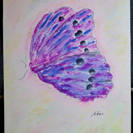 Sky on Fire Butterfly ©Felipe Adan Lerma in progress 03.18.21
