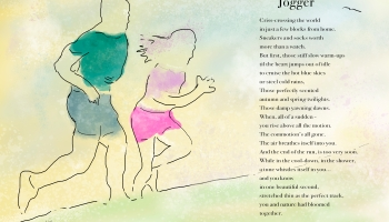 Jogger Poster ©Felipe Adan Lerma, with Text and Digital Pen and Ink with Wash https://felipeadan-lerma.pixels.com/featured/jogger-poster-felipe-adan-lerma.html