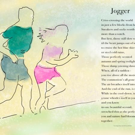 Jogger Poster ©Felipe Adan Lerma, with Text and Digital Pen and Ink with Wash https://felipeadan-lerma.pixels.com/featured/jogger-poster-felipe-adan-lerma.html