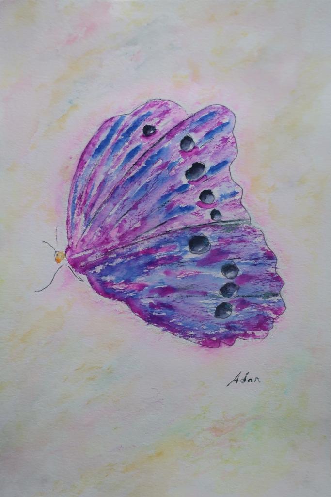 Sky on Fire Butterfly ©Felipe Adan Lerma watercolor on paper https://felipeadan-lerma.pixels.com/featured/sky-on-fire-butterfly-felipe-adan-lerma.html