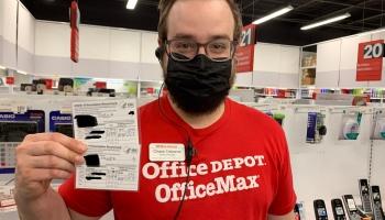 Free laminating at Office Depot https://www.officedepot.com/storelocator/tx/austin/office-depot-304/