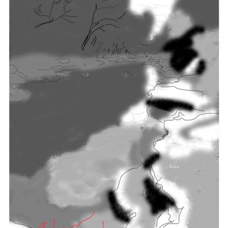 Digital sketch of Barton Springs Greenbelt NW Quadrant May 2020 ©Felipe Adan Lerma ( https://fineartamerica.com/featured/barton-springs-greenbelt-nw-quadrant-may-2020-felipe-adan-lerma.html )