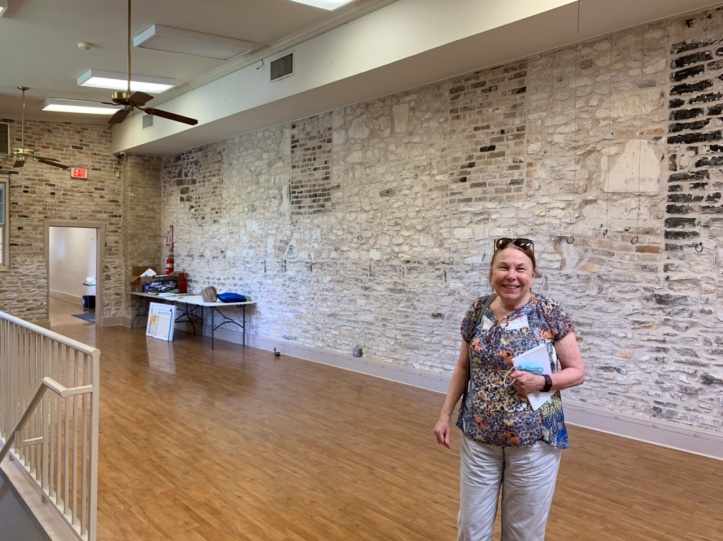 The Old Bakery & Emporium preparing to reopen 2021, seen - Sheila in the rotating exhibition gallery