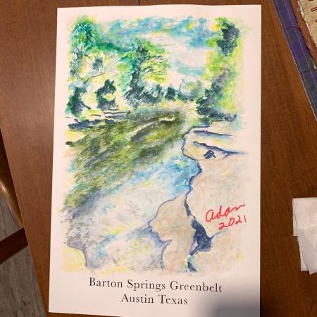 Barton Spring Greenbelt Poster 1 ©Felipe Adan Lerma - in progress.