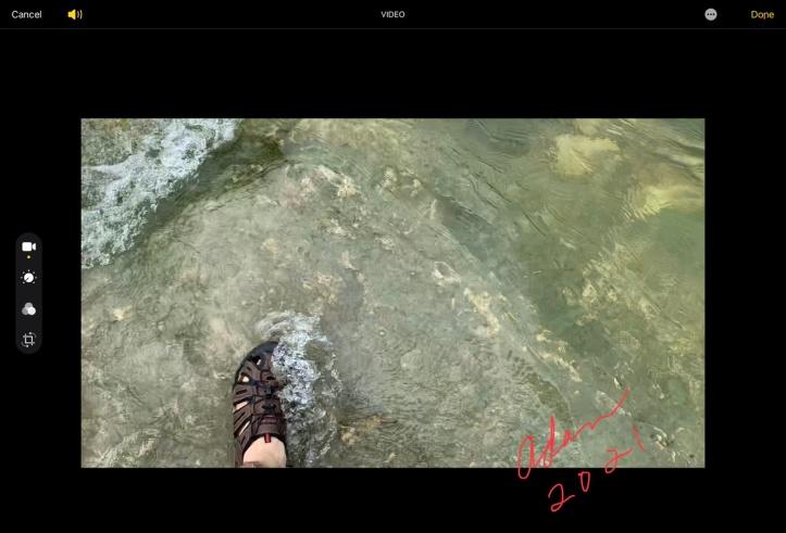 Still shot from video - Walking in Barton Creek After the Rains near the Violet Crown Trailhead 06.08.21 ©Felipe Adan Lerma