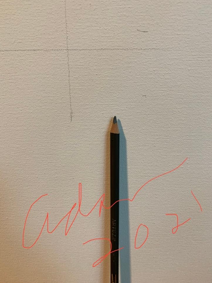 Prep work for Testing the Water, 16x20 acrylic on Golden Light Molding Paste ©Felipe Adan Lerma
