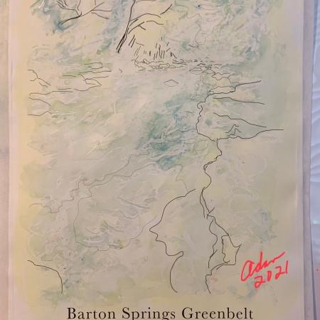 Barton Creek Greenbelt Poster Version 2 Pale Blue ©Felipe Adan Lerma https://fineartamerica.com/featured/barton-springs-greenbelt-poster-version-2-pale-blue-felipe-adan-lerma.html?newartwork=true