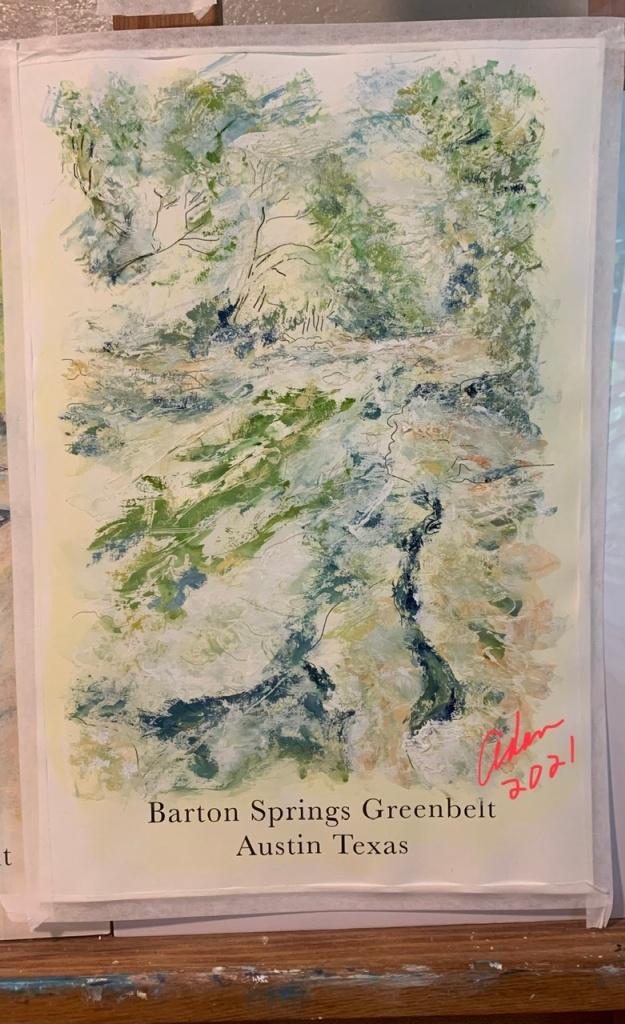 Barton Creek Greenbelt Poster Version 2 Lush ©Felipe Adan Lerma
