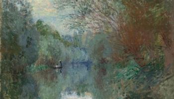 Claude Monet (1840-1926), Saules au Bord de l'Yerres, 1876 via Christie's https://www.christies.com/features/Early-impressionist-works-at-auction-in-2017-8038-1.aspx