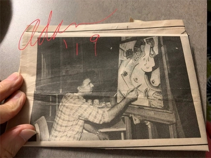 Adan Painting Picassa 1980s, an Homage to Picasso 😊 Photo taken at Galveston College for the Galveston Daily News
