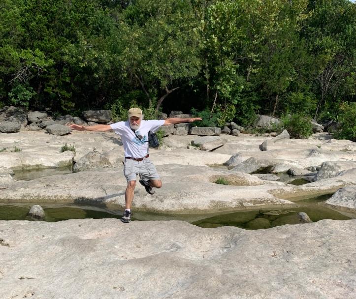 Jumping Rocks with Max at Barton Springs Greenbelt 08.15.21