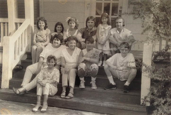 Galveston family in the 1980s on our porch