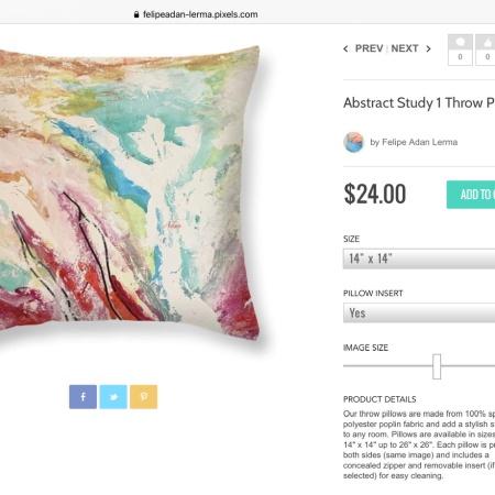 Abstract Study 1 on Throw Pillow ©Felipe Adan Lerma https://felipeadan-lerma.pixels.com/featured/abstract-study-1-felipe-adan-lerma.html