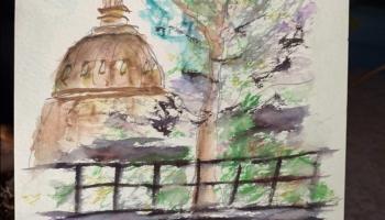 September 2021 Urban Sketcher Austin outing image ©Felipe Adan Lerma