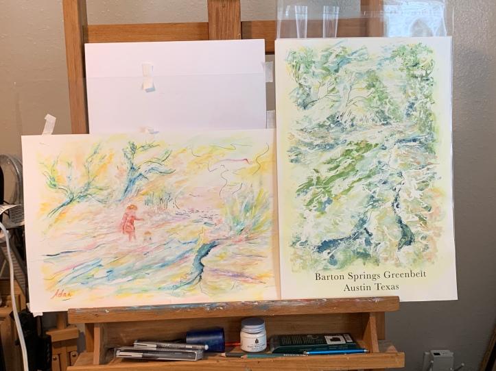 Comparison of Figure/Landscape study (4th rendition) & Barton Springs Greenbelt poster ©Felipe Adan Lerma Sept 2021