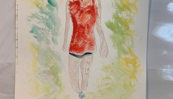 Walking in Dappled Light Study 1, #Watercolor on Paper @Felipe Adan Lerma September 2021
