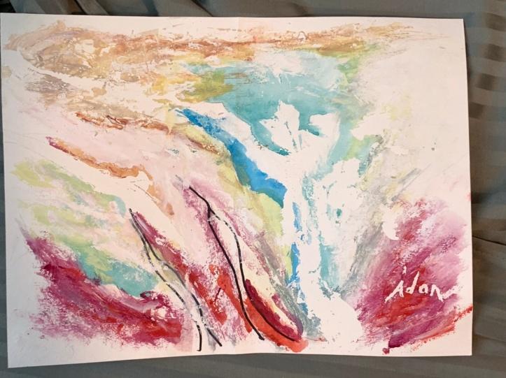 Abstract Study 1 ©Felipe Adan Lerma 9x12 watercolor on paper Sept 2021
