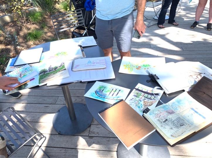 September 2021 Group images, Urban Sketcher Austin outing