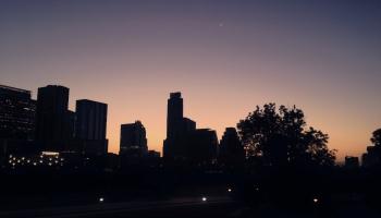 Austin Skyline Sunrise Into A Crescent Moon ©Felipe Adan Lerma https://felipeadan-lerma.pixels.com/featured/austin-skyline-sunrise-into-a-crescent-moon-felipe-adan-lerma.html