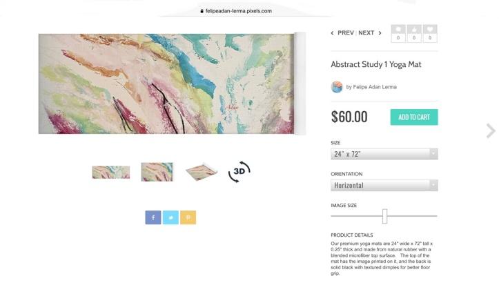 Abstract Study 1 on Yoga Mat ©Felipe Adan Lerma https://felipeadan-lerma.pixels.com/featured/abstract-study-1-felipe-adan-lerma.html