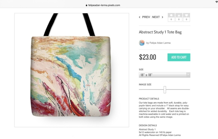 Abstract Study 1 on Tote Bag ©Felipe Adan Lerma https://felipeadan-lerma.pixels.com/featured/abstract-study-1-felipe-adan-lerma.html