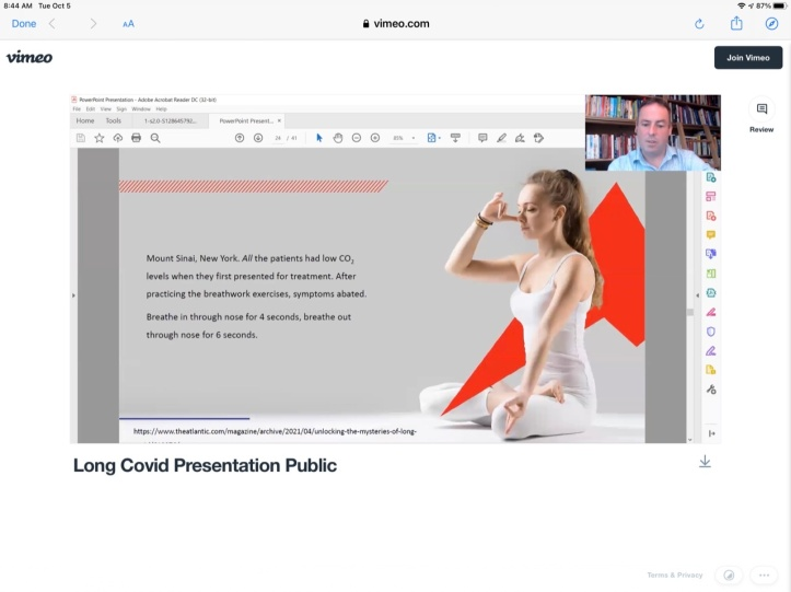 Long Covid Presentation 2021 with Patrick McKeown - Practical Breathing Exercises for Long Covid https://youtu.be/FkC1Y9GYy1s