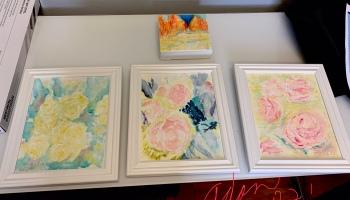 Original watercolors delivered to Old Bakery & Emporium Austin Texas Oct 2021 ©Felipe Adan Lerma
