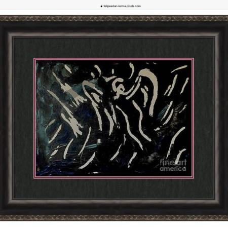 Angel, framed & matted ©Felipe Adan Lerma, Oct 2021 18x24 acrylic on canvas over light molding paste https://felipeadan-lerma.pixels.com/featured/angel-felipe-adan-lerma.html?product=framed-print