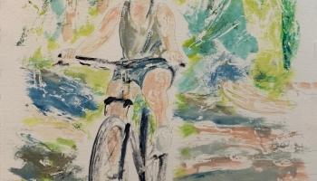 Girl on a Bicycle Study 1 v2 ©Felipe Adan Lerma, watercolor on paper 9x12 Oct 2021 https://felipeadan-lerma.pixels.com/featured/girl-on-a-bicycle-study-1-v2-felipe-adan-lerma.html